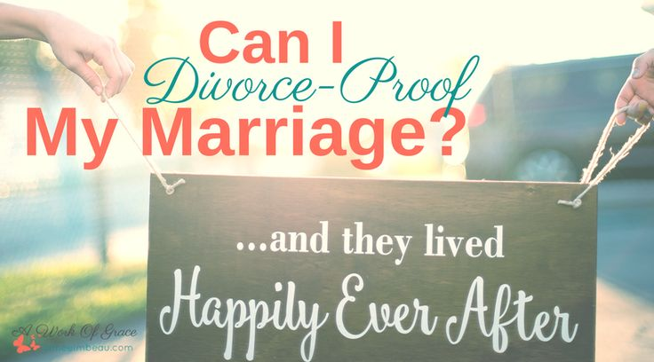 "With the number of Christian celebrity marriages falling apart, doubt and discouragement can infiltrate our hearts.  We grow concerned about our own marriages.  Is there anything that can be done to ensure our marriages are immune to such disaster?  We wonder ""Can I Divorce-Proof My Marriage?"""
