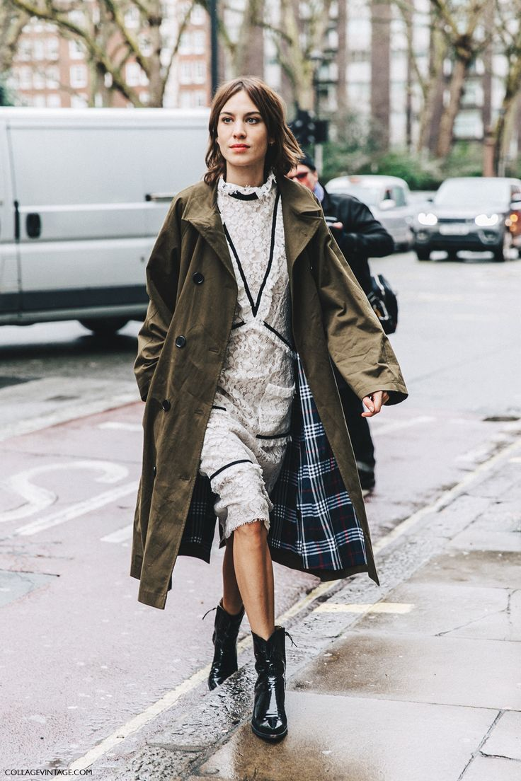 LFW-London_Fashion_Week_Fall_16-Street_Style-Collage_Vintage-Alexa_Chung-Trench_Coat-Cowboy_Boots-Erdem-Lace_Dress-4