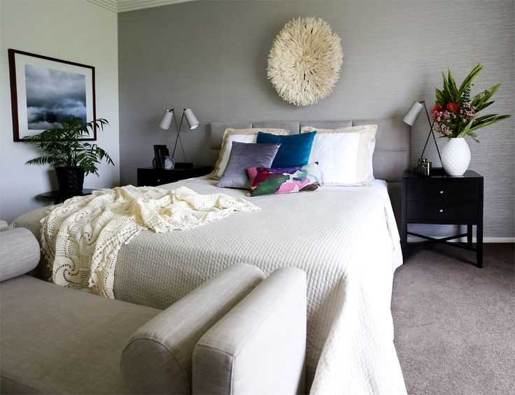 Interior Design and Decorating of a Master Bedroom from a recent Kim Black Design project in Brisbane, Australia.