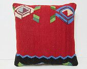 kilim rug pillow 18x18 turkish cushion cover moroccan cushion western pillow case big throw pillow modern cushion cover bench cushion 26280