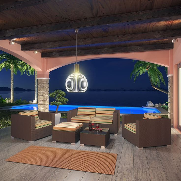 Get your home to look like this. NOW! Shop with us at Barcelona Designs! Your one stop shop for all your urbane furniture needs!  https://www.barcelona-designs.com/products/malibu-5-piece-outdoor-patio-sofa-set-1?utm_content=buffer0daae&utm_medium=social&utm_source=pinterest.com&utm_campaign=buffer #furnitureshop #ecommercesale #salesalesale #malibuset #interiordesign #homedecor #outdoordecor #summer2017