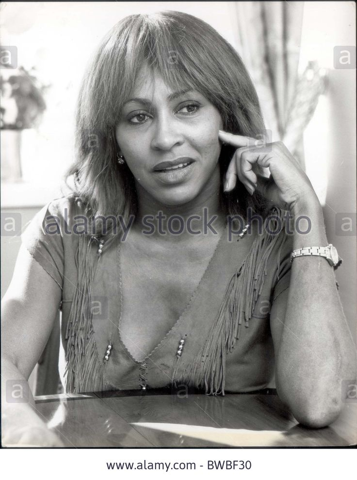Tina Turner - Singer April 1982 Tina Turner Singer singer EIGHTIES SINGERS PERSONALITY Stock Photo
