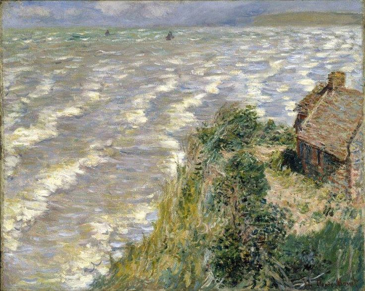 Claude Monet (French, Impressionism, 1840-1926) Rising Tide at Pourville, 1882, Brooklyn Museum, New York