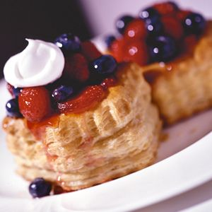 Use fresh or frozen berries for these convenient puff pastry baskets.