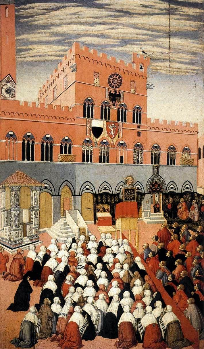 Prédication de saint Bernardin (Sano di Pietro) — Wikipédia