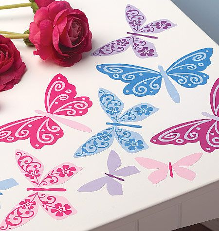 These vinyl wall decals from wallies look great at