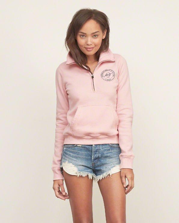 Mockneck Half-Zip Sweatshirt on Pinterest | Discover the best ...