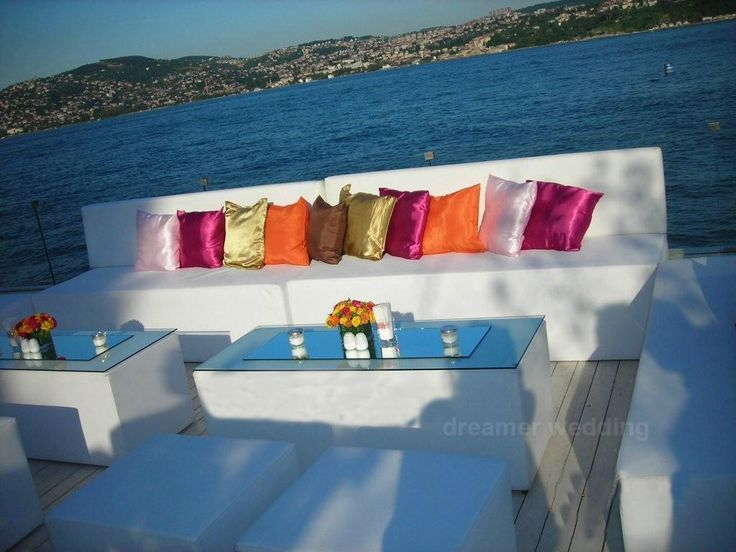 Colorfull decoration for a cocktail at Bosphorus, Istanbul..