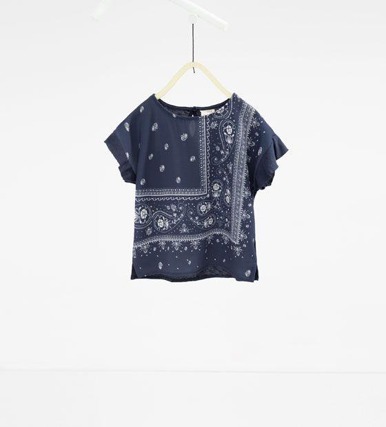 Image 1 of Bandana T-shirt from Zara