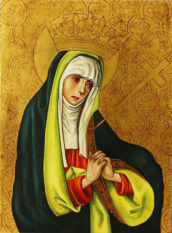 Our Lady of Sorrows POSTER Virgin Mary print by TanabeStudio