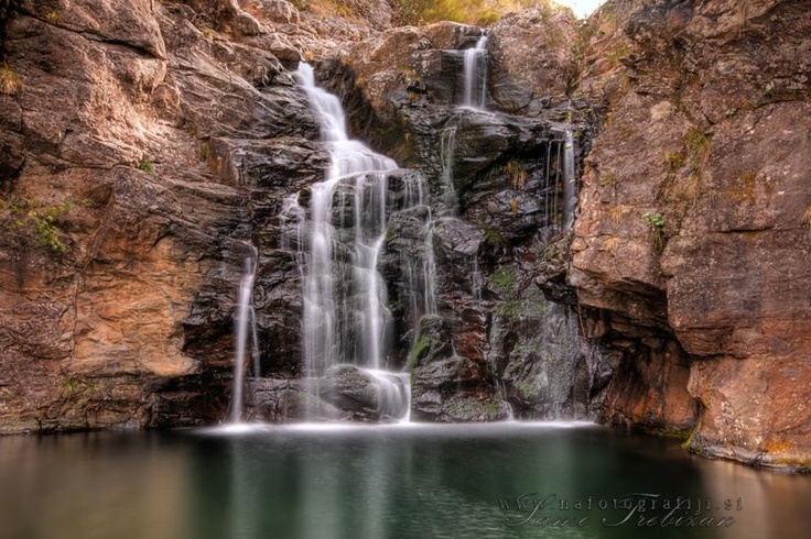 A waterfall at the end of Levada Ribeira Grande near Rabaçal, Madeira Portugal. Photo by Samo Trebižan