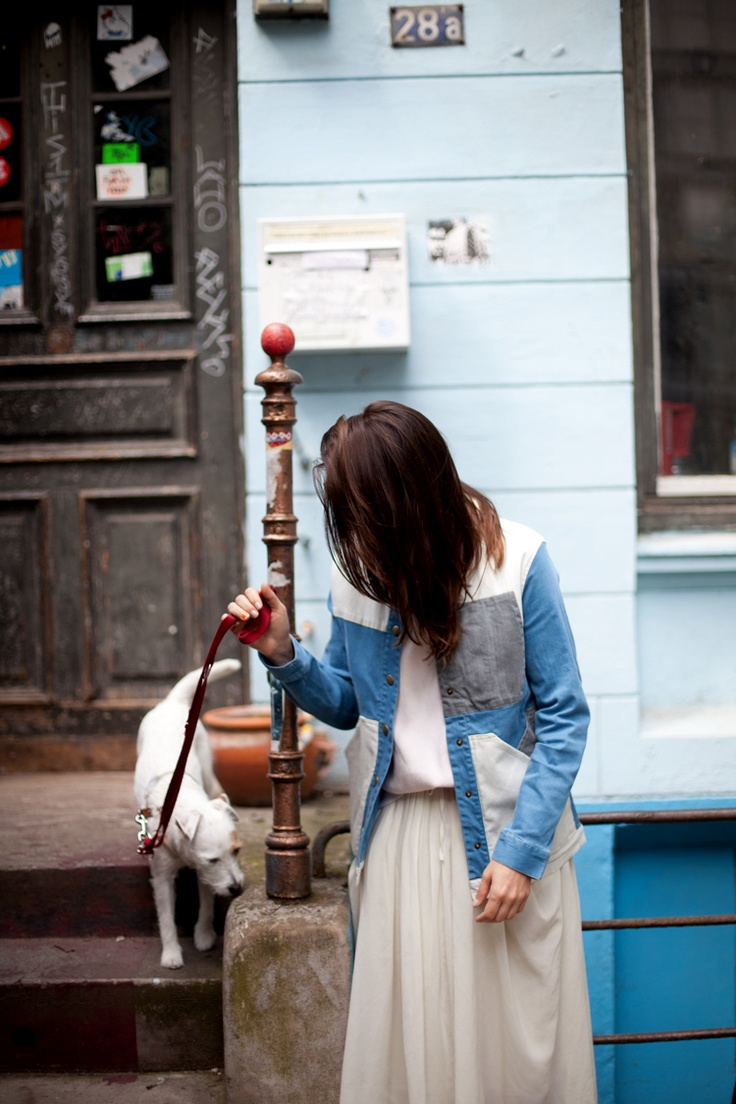 : Dogs, Style, Jackets, Remain Simple, Denim Patchwork, Girl And Dog, Animal