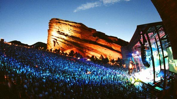 Red Rocks Amphitheatre is a stunning, naturally formed amphitheater located in the Rocky Mountains in Denver, Colorado.