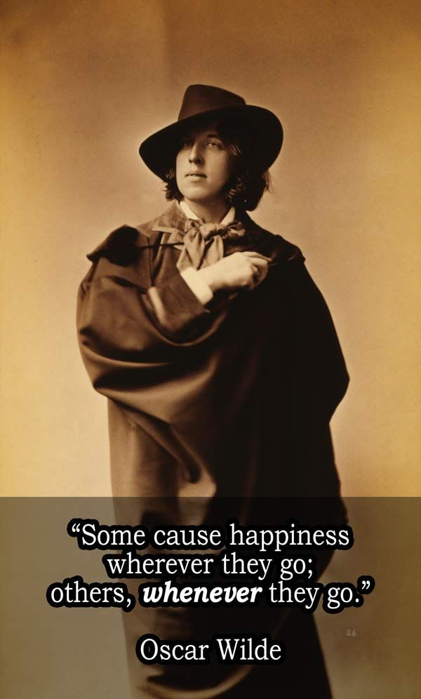 Oscar Wilde On Happiness – Love me some Oscar Wilde :) One of my all-time favorite authors.