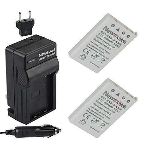 Newmowa EN-EL5 Battery (2-Pack) and Charger kit for NIKON Coolpix P530 P520 P510 P100 P500 P5100 P5000 P6000 P90 P80 Cameras