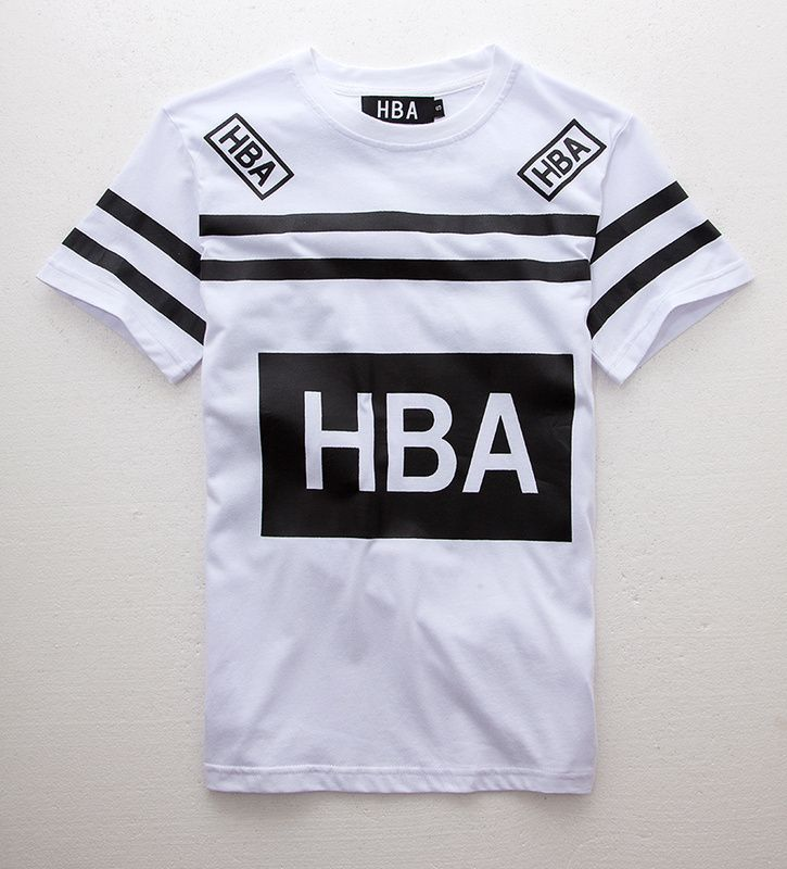 Hip hop Mens Tshirts Short Sleeve 2015 Summer Stripe Brand Tee Cotton HBA Hood…