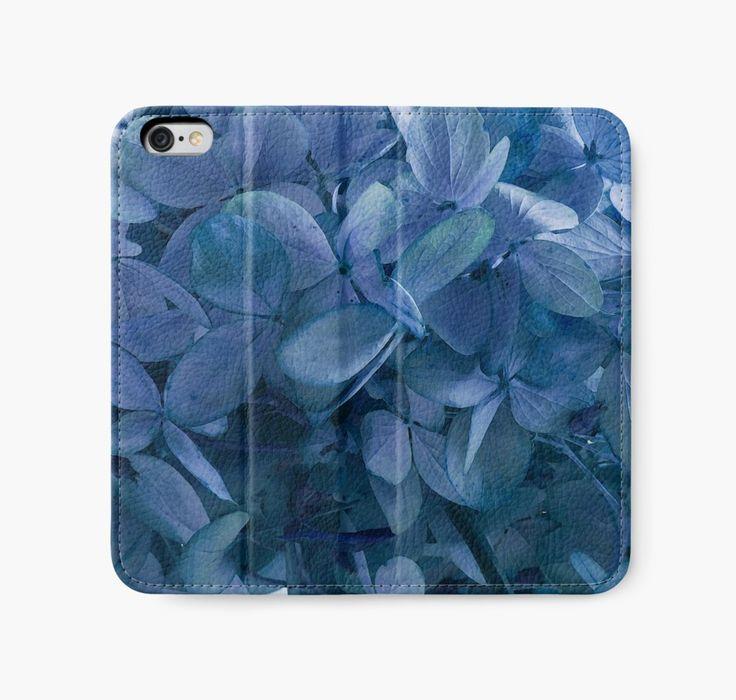 iPhone Wallet. #hydrangea #bluehydrangea https://www.redbubble.com/people/sandrafoster/works/11208010-blue-blue-hydrangeas?p=iphone-wallet