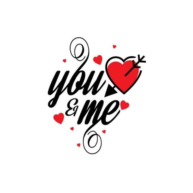 You And Me Stylish Typographic Card Vector Card Icons Card Vector Template Png And Vector With Transparent Background For Free Download Typographic Cards Png Text Love Wallpapers Romantic