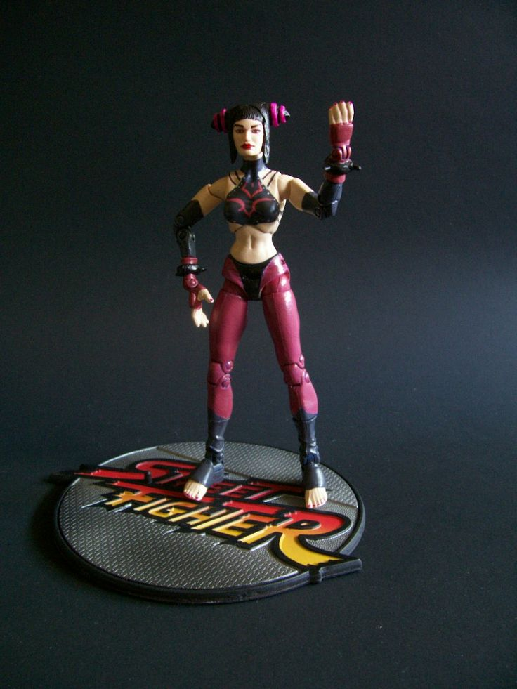 Juri Han with Stand.  Includes 3 Pairs of Custom Pants: 2 Fabric, 1 Latex (Great For Fighting Poses!)