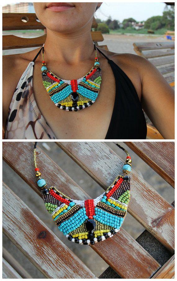 Africano declaración collar africano impresión collar africano