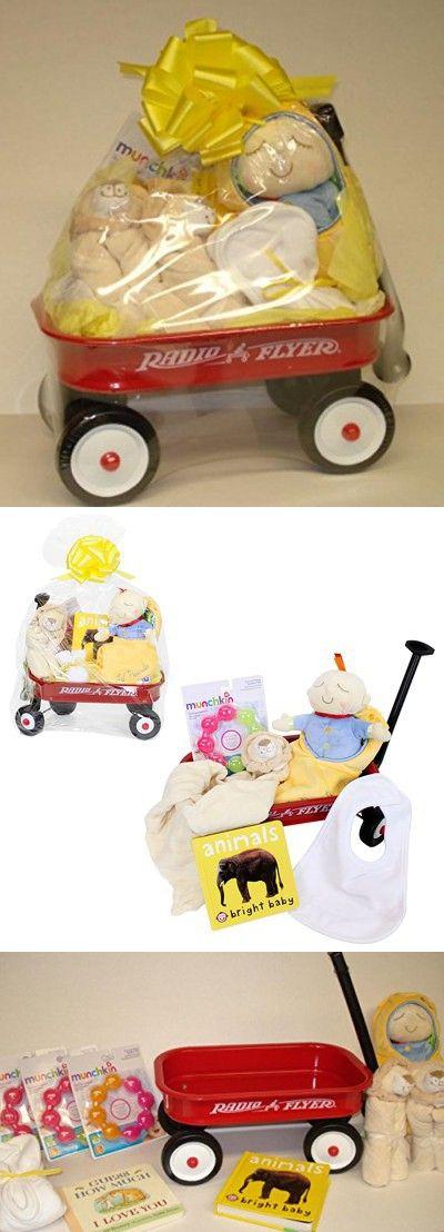 Baby Gifts Shower Newborn Radio Flyer Wagon Basket Set New Present