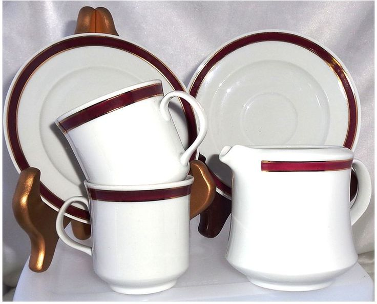 Vintage Alfold Porcelan  Espresso Cup &Saucer and Creamer Edenygyar RT Hungary #Alfold