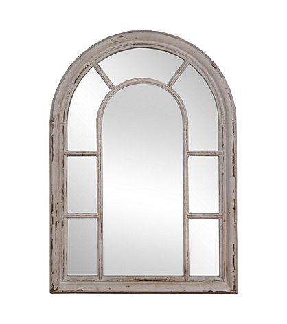 Sheffield Home Shabby White Windowpane Mirror Boston