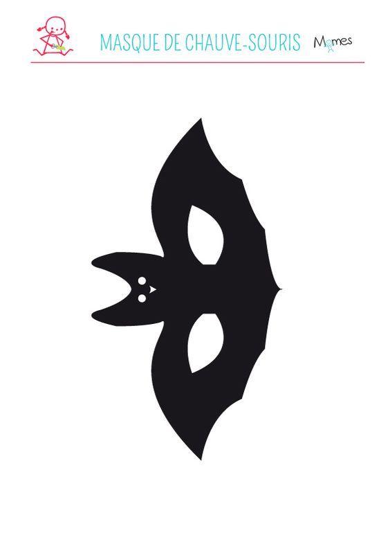 Les 25 meilleures id es de la cat gorie masque halloween a - Masque chauve souris a imprimer ...