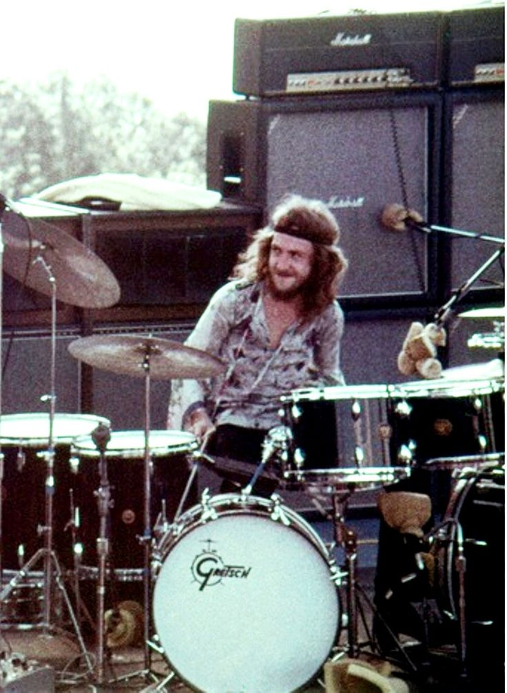 Mitch Mitchell, drummer for The Jimi Hendrix Experience.