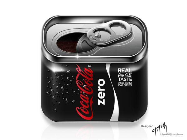 Cocacola Zero by Lee Kibaek, via Behance