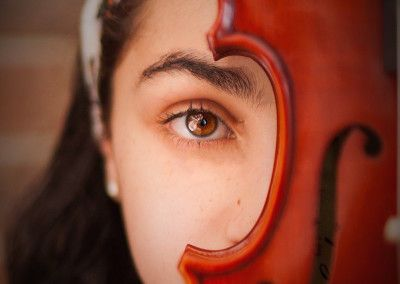 Music Passion Violin inspired portrait