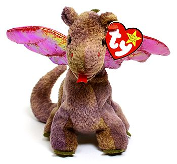 Scorch - dragon - Ty Beanie Babies. sentimental to me b/c my oldest half brother got him for me years ago.