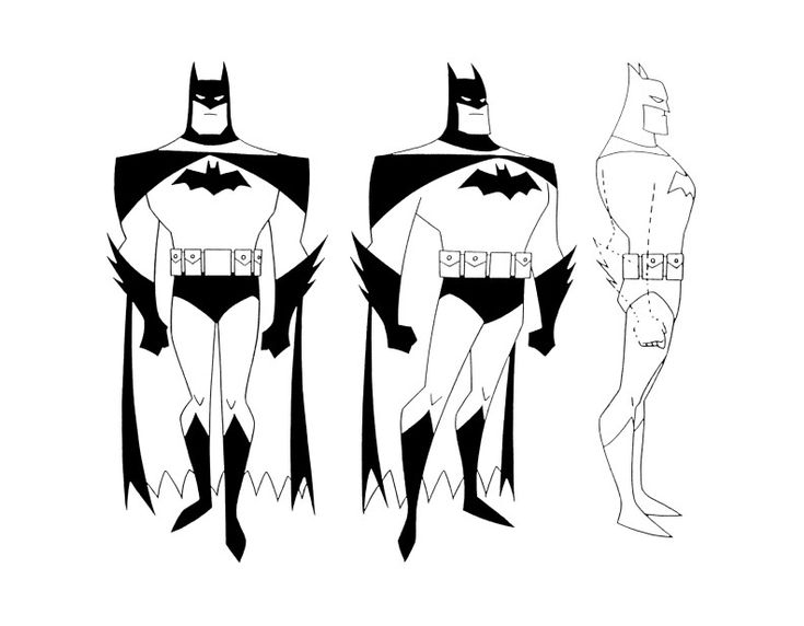 Cartoon Concept Design Batman The Animated Series Model Sheets