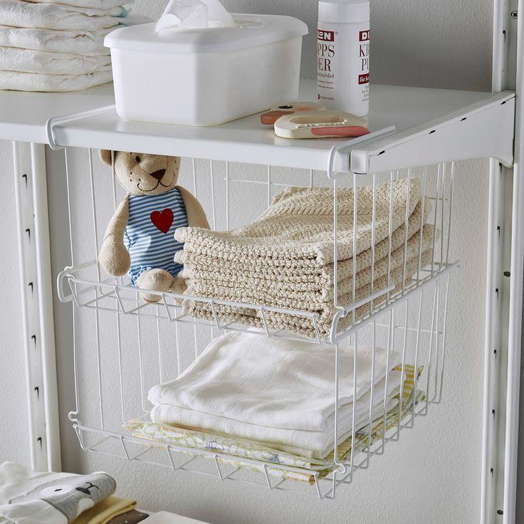Best Observatör Clip On Basket White In 2020 Ikea Storage 640 x 480