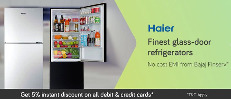 Haier Finest glass-door refrigerators on September 30 2016. Check details and Buy Online, through PaisaOne.