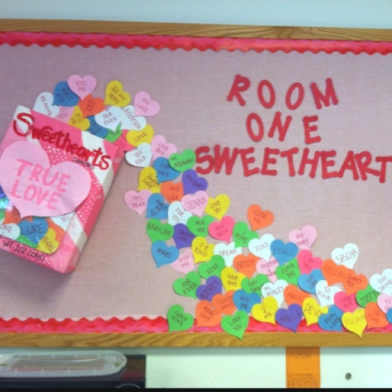 valentines bulletin board - A Class full of Sweethearts