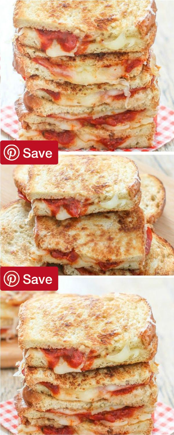 pepperoni pizza grilled cheese sandwiches you can serve at a tailgate or party. #delicious #diy #Easy #food #love #recipe #recipes #tutorial #yummy @ICookUEat - Make sure to follow @ICookUEat cause we post alot of food recipes and DIY we post Food and drinks gifts animals and pets and sometimes art and of course Diy and crafts films music garden hair and beauty and make up health and fitness and yes we do post women's fashion sometimes and even wedding ideas travel and sport science and…