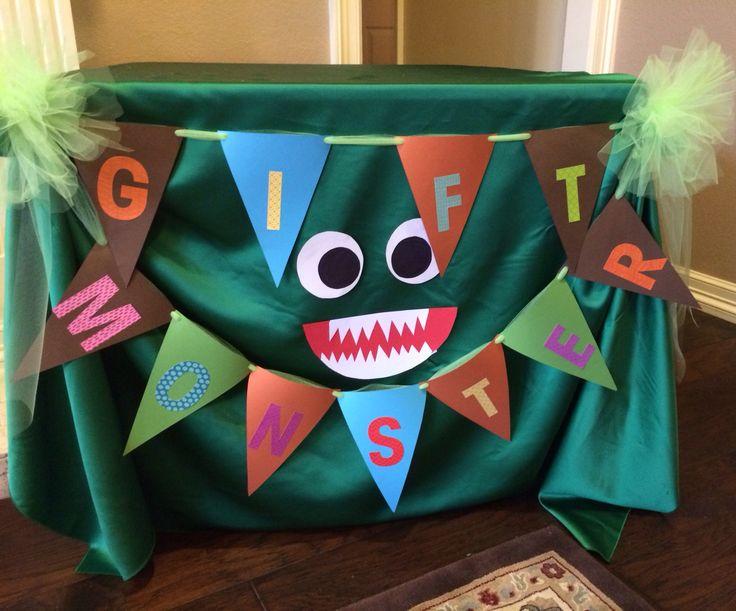 Gift Table Little Monster Baby Shower