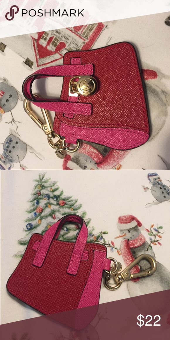 """Michael Kors key chain/ fobAUTHENTIC MK key chain/ key fob. Pink and red with gold lock, approx 2.5"""" x 3"""", very cute! Not carried, new cond no tag or 📦 box. I ship next day! This is a Michael Kors key fob, not a Replica it is authentic. Michael Kors Accessories Key & Card Holders"""