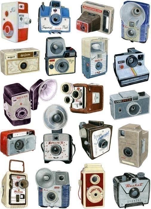 cameras cameras cameras!: Christine Berries, Vintage Wardrobe, Vintage Cameras, Cameras Cameras, Cameras Photography, Cameras Collection, Cameras Art, Cameras Drawings, Old Cameras