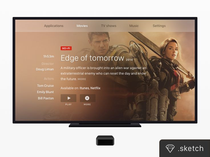 TV Screen + Apple TV [FREEBIE] by Rémi Fayolle