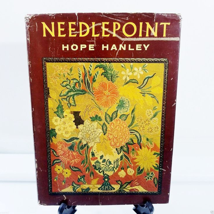 Needlepoint by Hope Hanley 1964 Hardcover Crafts Book Vintage Designs  Needlepoint Crafts - Stitch Instructions & Patterns Parisian Embroidery Stitch , French Stitch , Scotch Stitch Knotted, Double , Diagonal, Bargello Stiches & More An original and complete book by Hope Hanley Filled with facts, designs and stitch instructions Book is in VG condition - no rips , tears or lettering , dust jacket shows age and wear