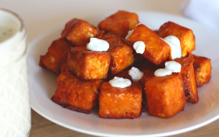 <p>These Buffalo tofu bites are packed with flavor — not too hot, not too spicy.</p>