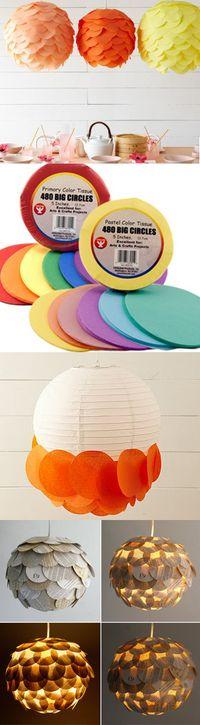 .DIY scalloped lanterns
