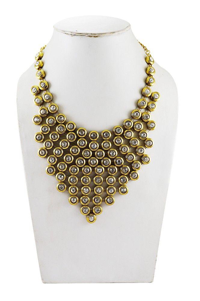 Adbeni+Kundan+Choker+Design+Handcraft+Necklace-ADB-005+Price+₹749.00