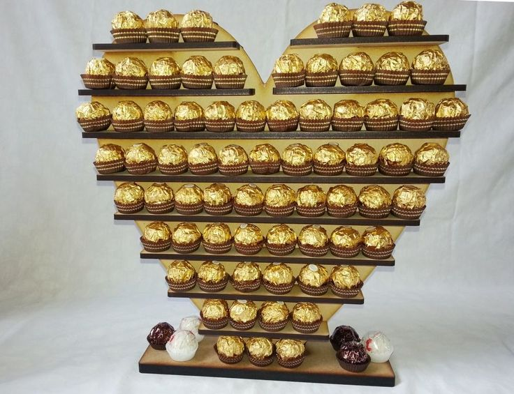 Heart Ferrero Rocher Display Stand, Pyramid Tree Holds 140