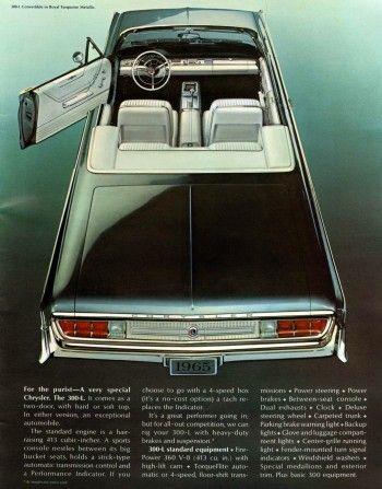 1965 Chrysler 300 convertible ad