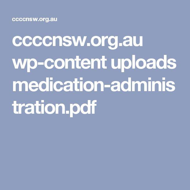 ccccnsw.org.au wp-content uploads medication-administration.pdf