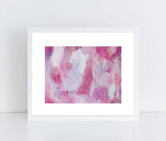 Intuitive Painting, Abstract Art, Original Painting,Colorful Wall Art,  Floral, Eco, Inspirational, Uplifting, Girly Decor