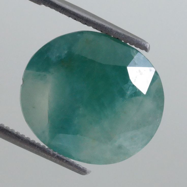 11.81ct Rare Bicolor Greenish Blue! Nice Oval Cut 16x14mm Natural Grandidierite